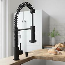 Matt Black Colors Pull Out Sprayer Kitchen Sink Faucet Single Handle Mixer Tap
