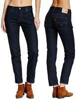 Levi's Damen Jeans Hose 501 CT Boyfriend Marineblau W23 - W32
