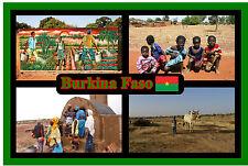 BURKINA FASO, WEST AFRICA - SOUVENIR NOVELTY FRIDGE MAGNET - SIGHTS NEW / GIFT