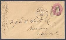 US 1862 CIVIL WAR COVER WITH RARE PRISON BAR CANCEL SUPERB STRIKE COLUMBUS OHIO