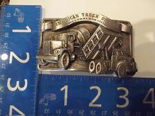 Vintage Pewter Belt Buckle American Truck Driver 1985