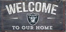 Oakland Raiders Man Cave Wooden Sign Welcome Our Home Made USA NFL Licensed