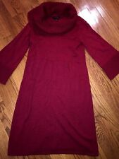 THE LIMITED Crimson Burgundy Scarlett Red Vintaga WOMENS SWEATER DRESS Sz MEDIUM