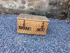 Vintage Wicker Laundry Basket / Log Basket / Picnic Basket