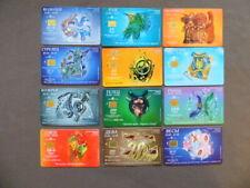 Serie 12 Chip kaarten gebruikt Rusland  -  Chinese Horoscoop