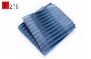 Blue Silver Green Orange Navy Orange Black Patterned Pocket Square Handkerchief