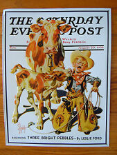 Tin Reproduction Advertising Sign The Saturday Evening Post