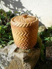 Ancienne grande terrine décor pâté en croûte boule de pain trompe oeil signé