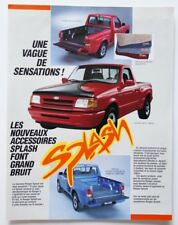 FORD RANGER Splash 1987 Accessories dealer brochure catalog - French - Canada