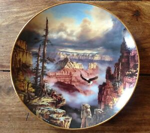 Where Eagles Soar Collectible Plate God Bless America Rudi Reichardt collection