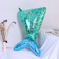 90cm Aliuminium Foil Green Mermaid Tail Balloon For Birthday Party Decorations