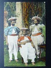 More details for ceylon / sri lanka kandyan chiefs c1912 postcard by plate & co. ceylon