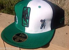 BOSTON CELTICS NEW ERA FITTED HAT 7 5/8 EMBROIDERED LOGO OFFICAL NBA GREEN