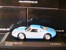 PORSCHE 904 GTS BLAU LECHLER 1964 MINICHAMPS 400065720 1/43 BLUE BLEU IPAD