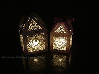 NEW WEDDING LANTERNS TEALIGHT LED TEA LIGHT CANDLE HOLDERS WITH FREE RIBBON