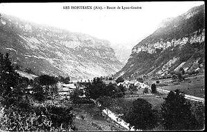A02138+  CPA 01 +LES  HOPITEAUX  ROUTE DE  LYON  GENEVE
