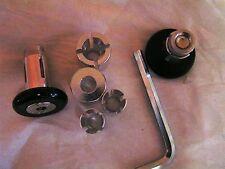 HANDLE BAR END PLUG BLACK MX SUIT BAR ID 12/14/18mm