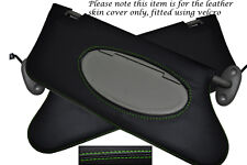 GREEN STITCHING FITS ROVER 75 MG ZT 1999-2005 2X SUN VISORS LEATHER COVERS ONLY