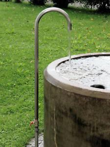 Brunnenbogen Wasserauslauf Brunnen-Einlauf Schwanenhals Wasserspeier Edelstahl