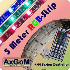 5 Meter RGB-LED-Strip weiß - 44 Tasten Controller - Netzteil 12V-36W-Farbwechsel