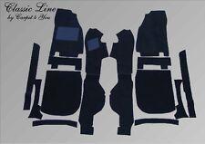 Ford Capri 2 und 3 Teppiche Satz kompl. Velour Schwarz