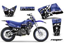 Graphics Kit Decal Wrap + # Plates For Yamaha TTR90 TTR90E 2000-2007 REAPER BLUE