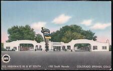 COLORADO SPRINGS CO Mountain View Motel Vtg Postcard