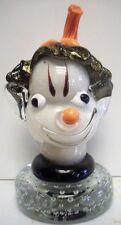 Murano Art Glass Italian Alfredo Barbini Elf Head  Clown Paperweight Free Ship