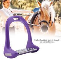 Perfeclan Horse Riding Equestrian Lightweight Aluminum Saddle Stirrups Pad