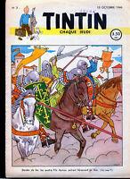 TINTIN (Edition  Belge )  n° 3   du     10  octobre  1946--------T.B.E.(cachet)
