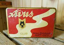 Alte Blechdose MALZMANN AG * Zigarettendose AVUS CLUB * 50 Cigaretten old tin