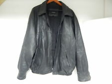 OUTBROOK MEN'S LEATHER JACKET XL X-LARGE X-LG BLACK