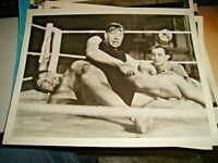 foto originale PRIMO CARNERA durante incontro wrestling anni '40