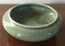 Vintage Chinese Celadon Porcelain Brush Washer Coupe Vase Bowl 20th c.