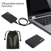 "2TB Hard Disk Drive HDD USB 3.0 2.5"" External Ultra Slim Data Transfer Portable"