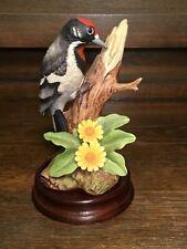 Downey Woodpecker Porcelain Figurine #9386 By Andrea by Sadek