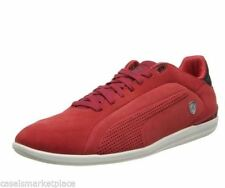 Puma Mens Gigante Lo Ferrari Size US 14 M Red Nubuck Leather Sneakers Shoes $100