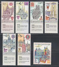 Czechoslovakia 1967 MNH Mi 1738Zf-1744 Sc C59-C65 World Stamp Exhibition **