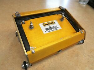 "TapeTech 7"" EasyClean Drywall Flat Box with EasyRoll Wheels EZ07TT GREAT SHAPE"