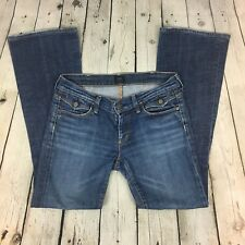 COH Citizens Of Humanity Women's Jeans Denim Size 27 Pocket Flap Whiskers