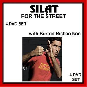 SILAT FOR THE STREET 4 DVD SET w/ burton richardson  like pencak kali mma karate