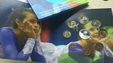 Cartera Grecia 8 valores + moneda de 10 euros proof 2011 juegos Olímpico Atenas