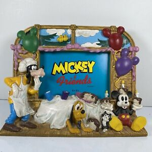 Disney Mickey and Friends Picture Frame Party Birthday Goofy Pluto 5x3.5 3-D