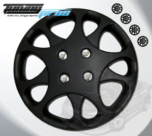 """14"""" Inch Matte Black Hubcap Wheel Cover Rim Covers 4pc, Style Code 821 14 Inches"""
