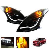 For 2010-2016 Suzuki Swift Head Lamp Light Smoke Ccfl Led Projector