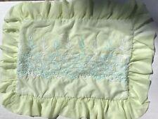 Vintage Green Sheer Pillow Sham with Ruffle Edge