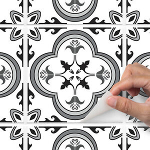 Grey traditional tile sticker for kitchen or bathroom - T9 - Style 1