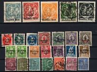 P135658/ GERMANY – YEARS 1920 - 1921 USED SEMI MODERN LOT – CV 140 $