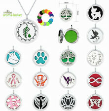 Aroma Diffuser Alloy Necklace Lockets Perfume scent Essential Oil Aromatherapy