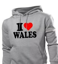 I Love Wales Hoody GREY UNISEX Hoody- LARGE ! Brand New With Tags